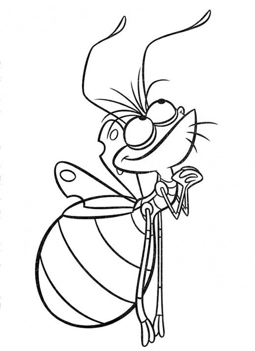 Ray The Firefly Coloring Page Use Glow In The Dark Paint For His