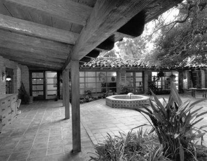 La Habra Heights  CA  760 Via Miguel  Cliff May   California Courtyard  HaciendaCliff May  this is my dream  indoor plaza for indoor outdoor  . Indoor Outdoor Living Lafayette Louisiana. Home Design Ideas