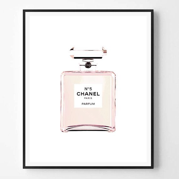 90042bb7b67b Chanel print, Fashion Print, Coco Chanel, Chanel perfume, Pink bottle,  Fashion, Modern print, Typogr
