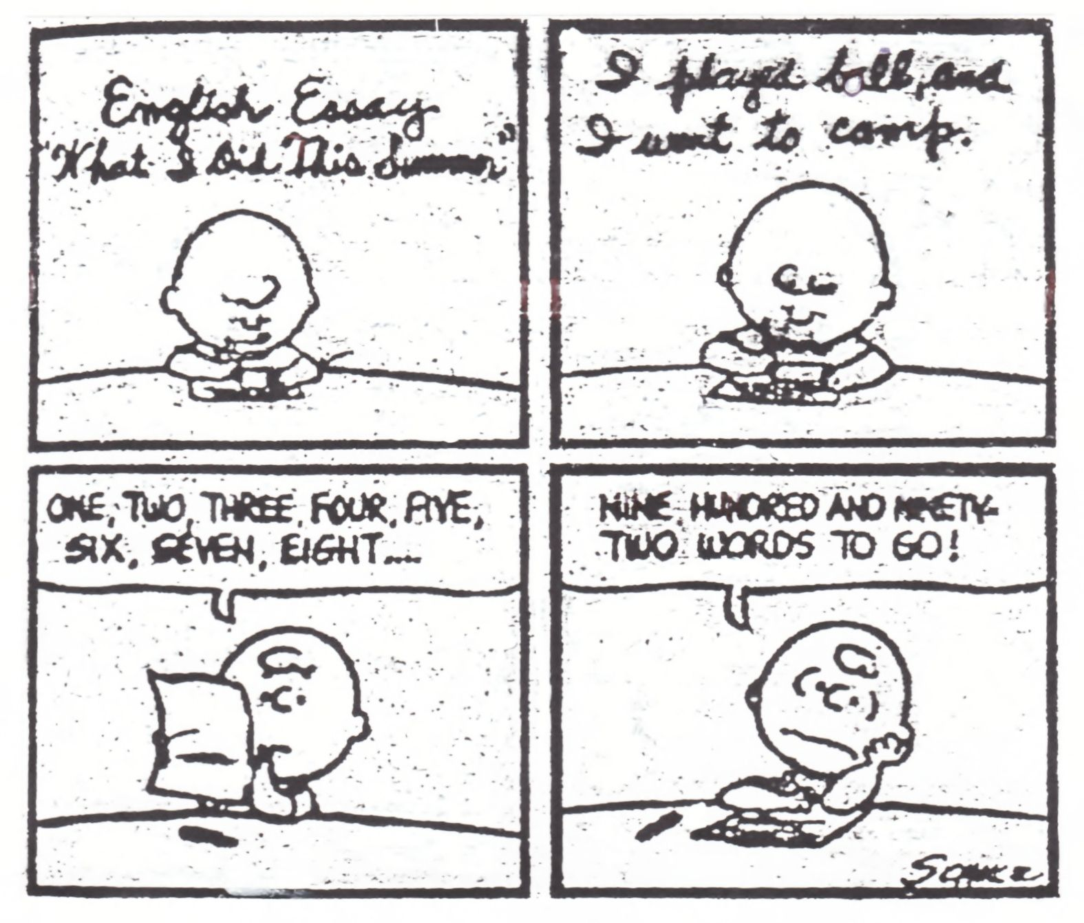 Essay For India Essay Writing Techniques Peanuts Comic Strip With Charlie Brown Beginning  To Write An Essay  Carpe Diem Essay also How To Make A Bibliography For An Essay Peanuts Comic Strip With Charlie Brown Beginning To Write An Essay  Personality Traits Essay