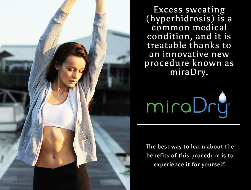 Underarm sweating = Embarrassing 😥 MiraDry is a cost-effective