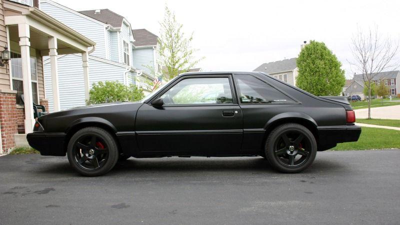 1987 1993 Mustang Gt Satin Black Paint Job Ford Mustang Forums Ford Mustang Forum Mustang Black Paint