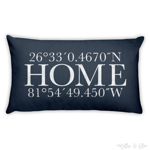Latitude Longitude Pillow, Custom Personalized Gift