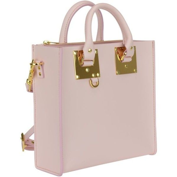 Albion Square Bag 2 505 Ils Liked On Polyvore Featuring Bags Handbags Pastel Pink Womenbags Purse Handbag