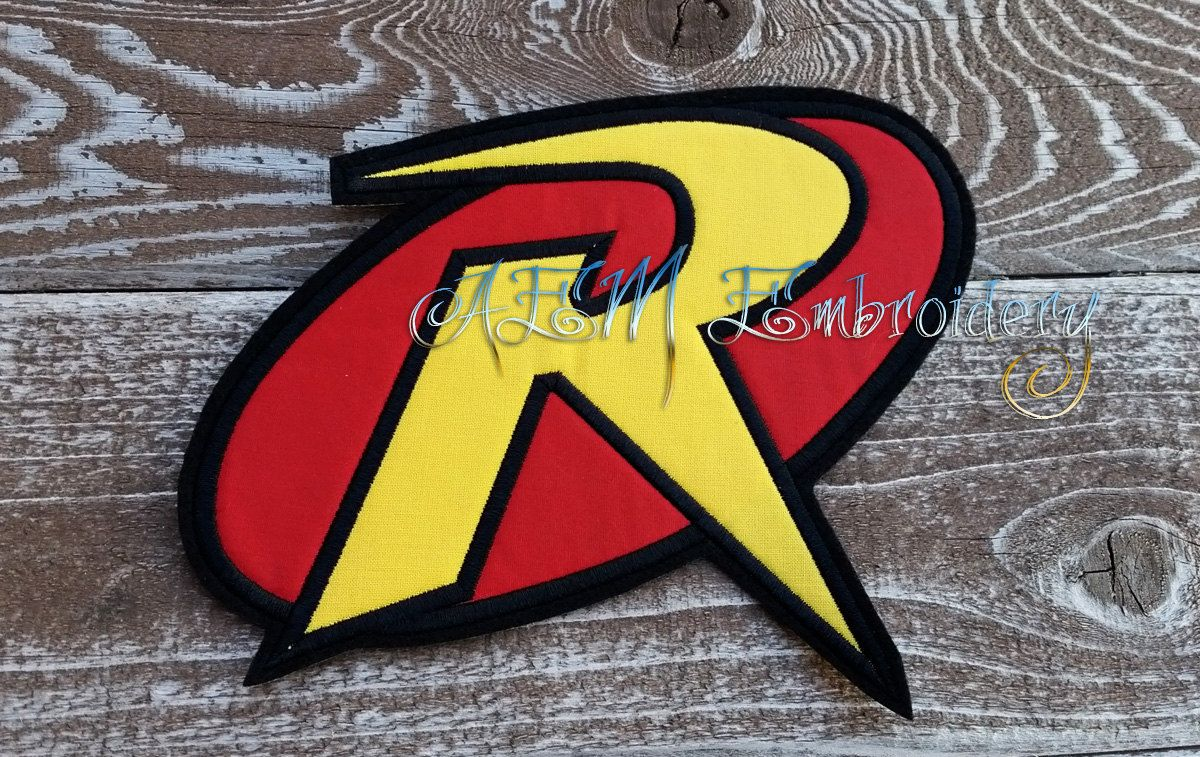 Robin Applique Logo Patch Yellow And Red Patches Pinterest