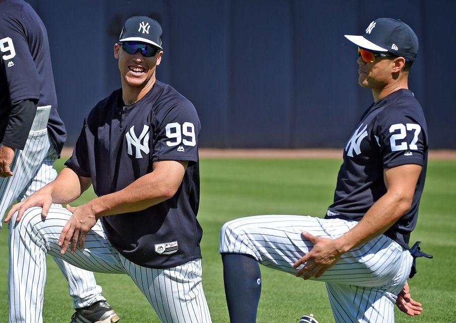 on sale 549d1 dd283 Yankees spring training 2018 | Giancarlo Stanton | Giants ...