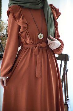 Photo of Ekose Desen Lacivert Elbise