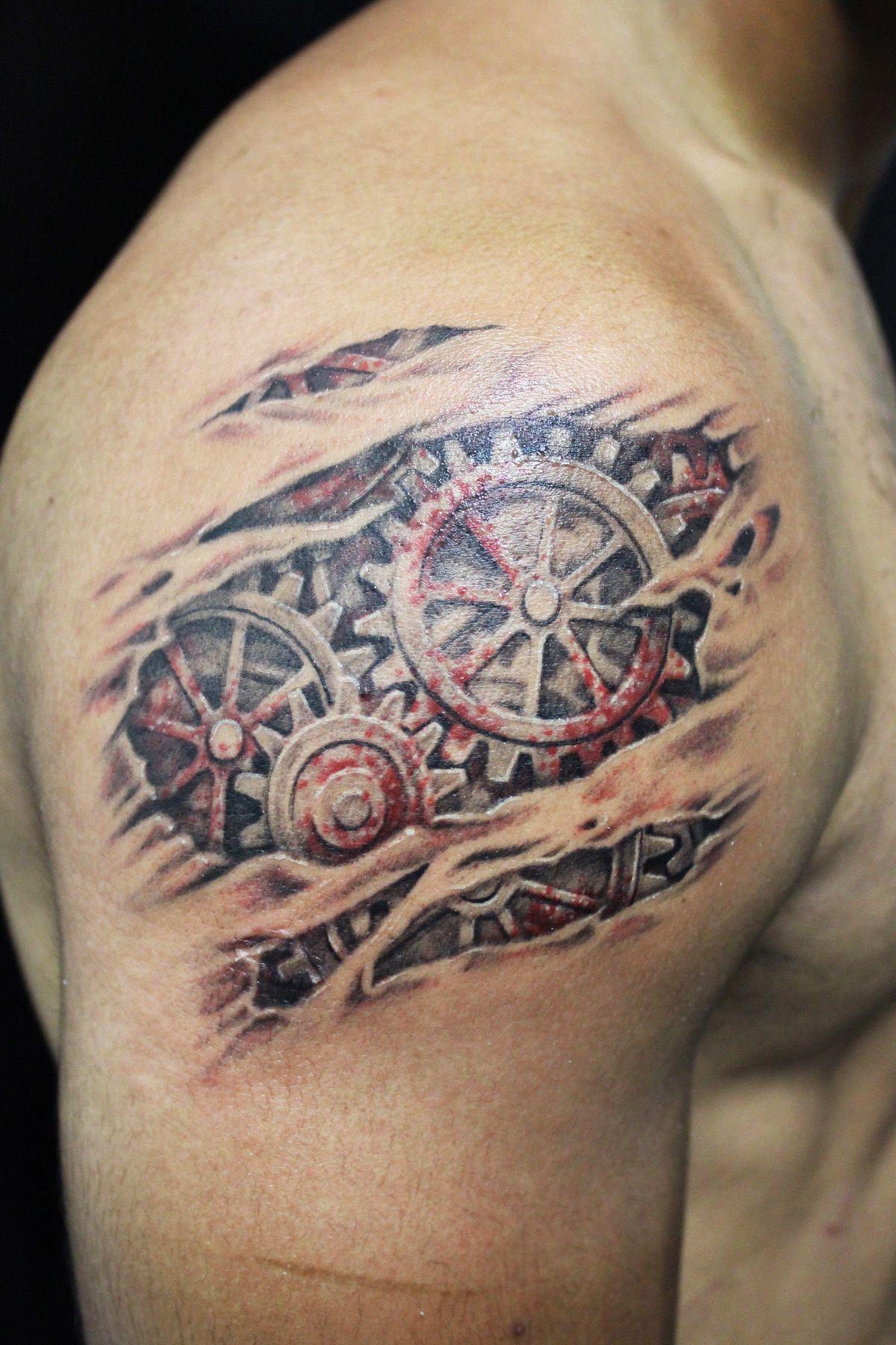 Tattoo gear tattoo sleeve mechanic tattoo mechanical tattoo gears - Tattoo Steampunk Google Search