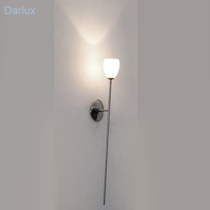 Wandleuchte Wandfackel Design Wandlampe Stahl Glas weiß LED , Sparlampe geeign. | eBay