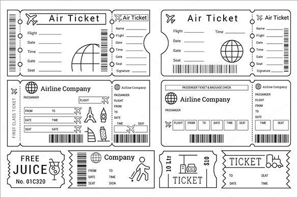 printable-ticket-templates-for-cinema-zoopark-airline.jpg (585×389 ...