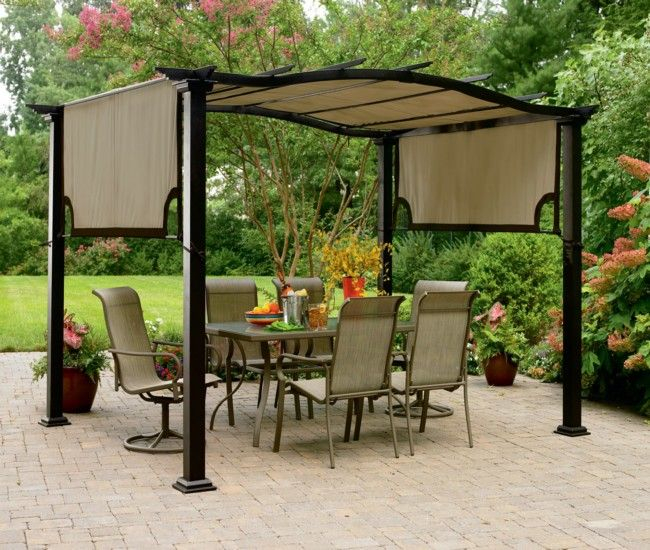 Garden Pergola A Comfortable Seating For Family Curved