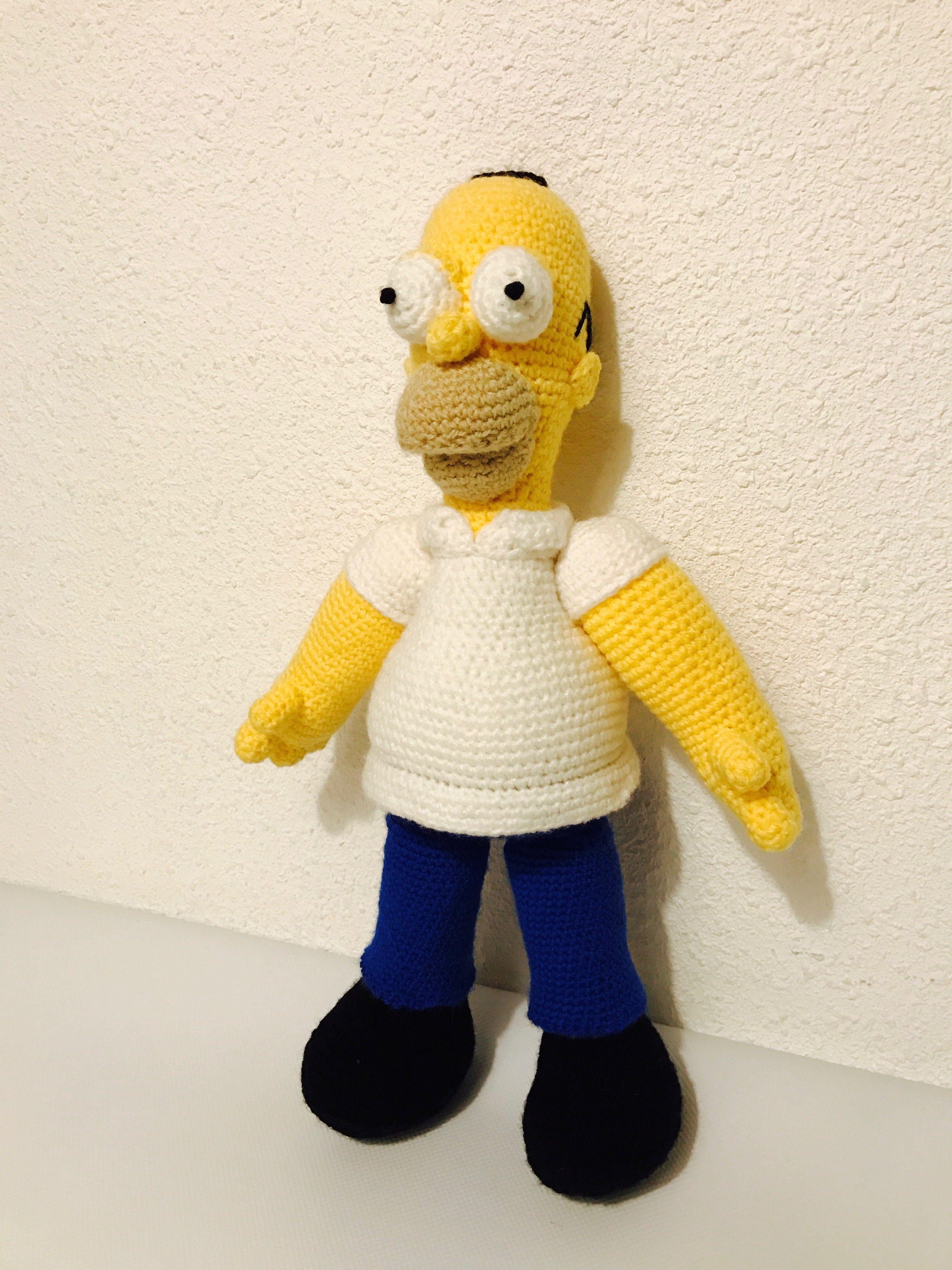 HOMER au crochet (Les Simpson) | ARTISANAIX | Pinterest | Patrones y ...