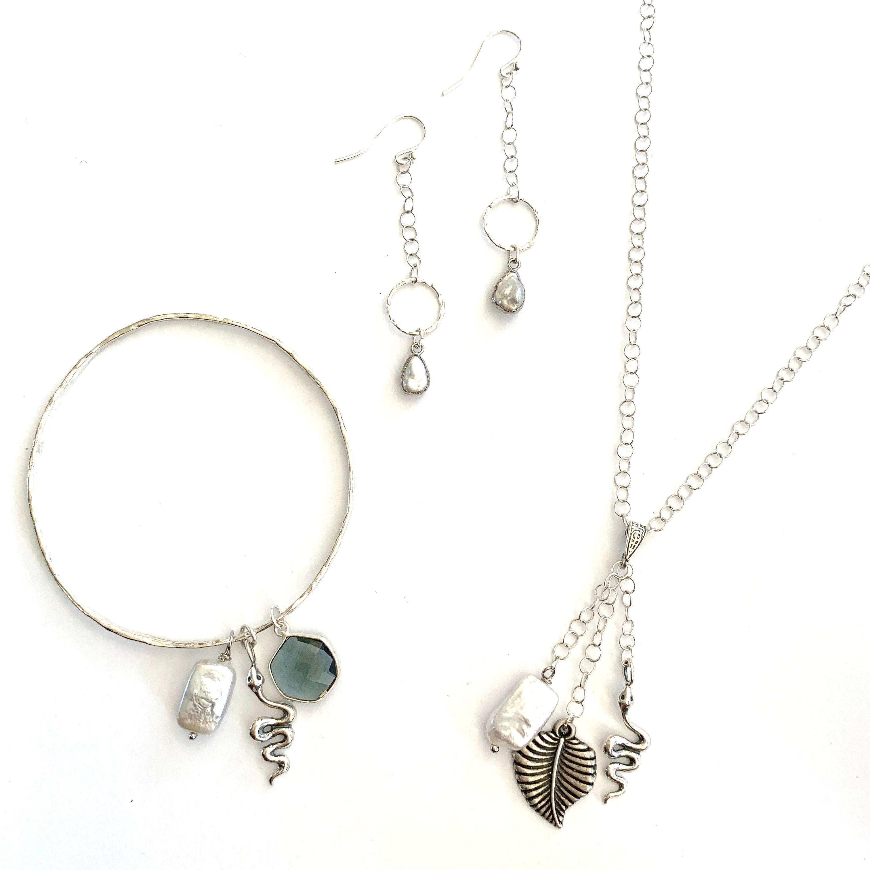 The Silver IT set...  - - - - - #sterlingsilver #necklace #bracelet #earrings #costamesa #orangecounty #customjewelry