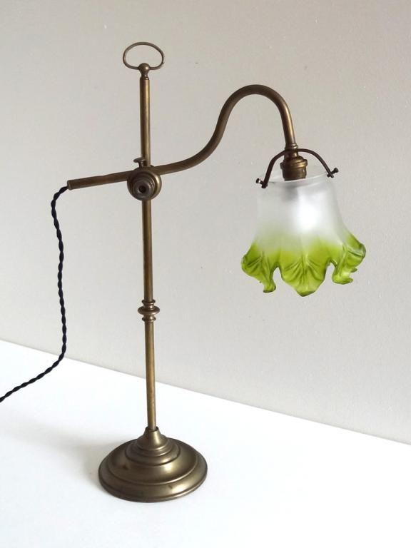 Lampe De Bureau Ancienne Art Nouveau 1900 Luminaire Vintage Lampe Ancienne Art Nouveau
