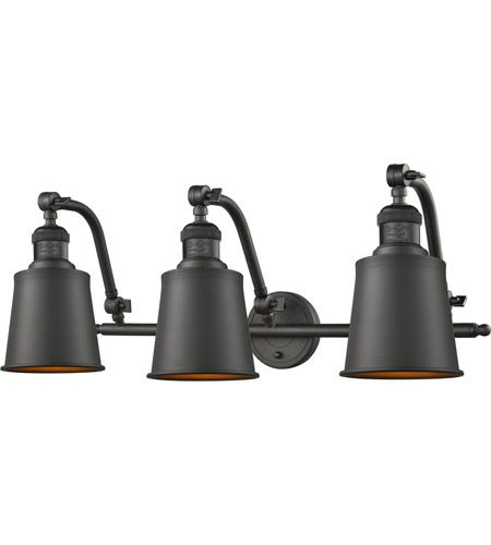 Photo of Innovations lighting 515-3W-OB-M9 Addison 3 Light 28 inch oiled Rubbed Bronze Vanity Light wall lamp