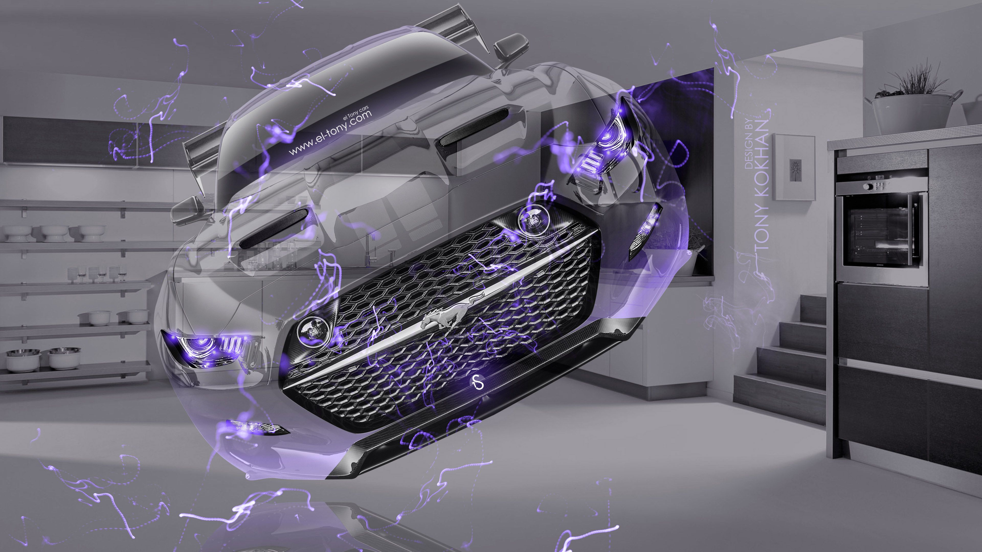 Dodge Viper SRT Front Fire Abstract Car 2014 Photoshop HD Wallpapers Design  By Tony Kokhan [