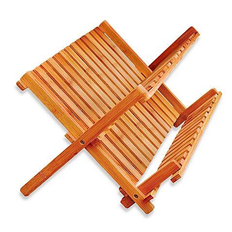 Bamboo Folding Dish Rack Escorredor De Louca Escorredor De