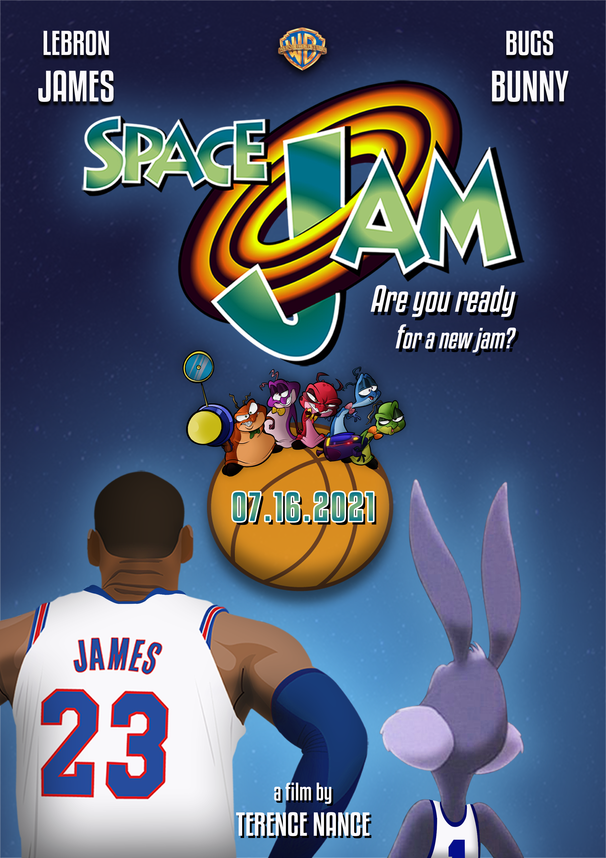 Space Jam Movie Poster Space Jam Space Poster Movie Posters