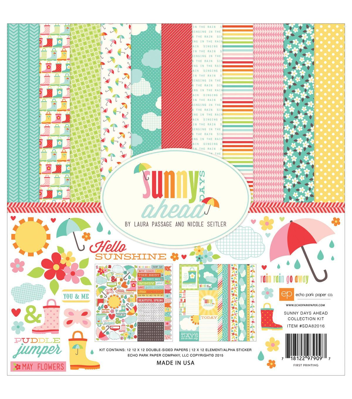 Scrapbook paper echo park - Echo Park Paper Company Sunny Days Ahead Scrapbooking Kit