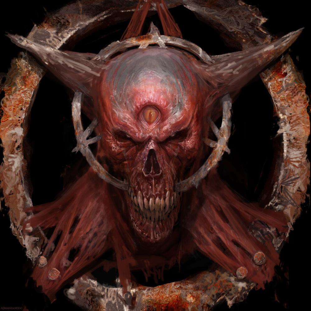Artstation Demon Skull Antonio J Manzanedo Demon Art Evil Art Skull Art