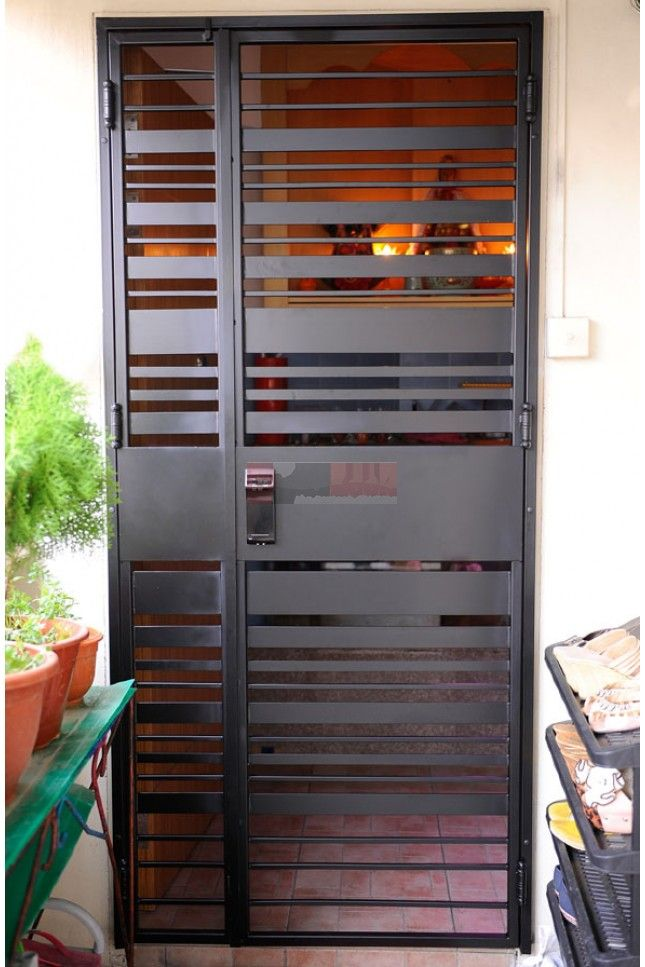 Yale Ydr 323g Digital Lock With Hdb Gate In Singapore 92220659 My Digital Lock Metal Doors Design Steel Door Design Iron Door Design