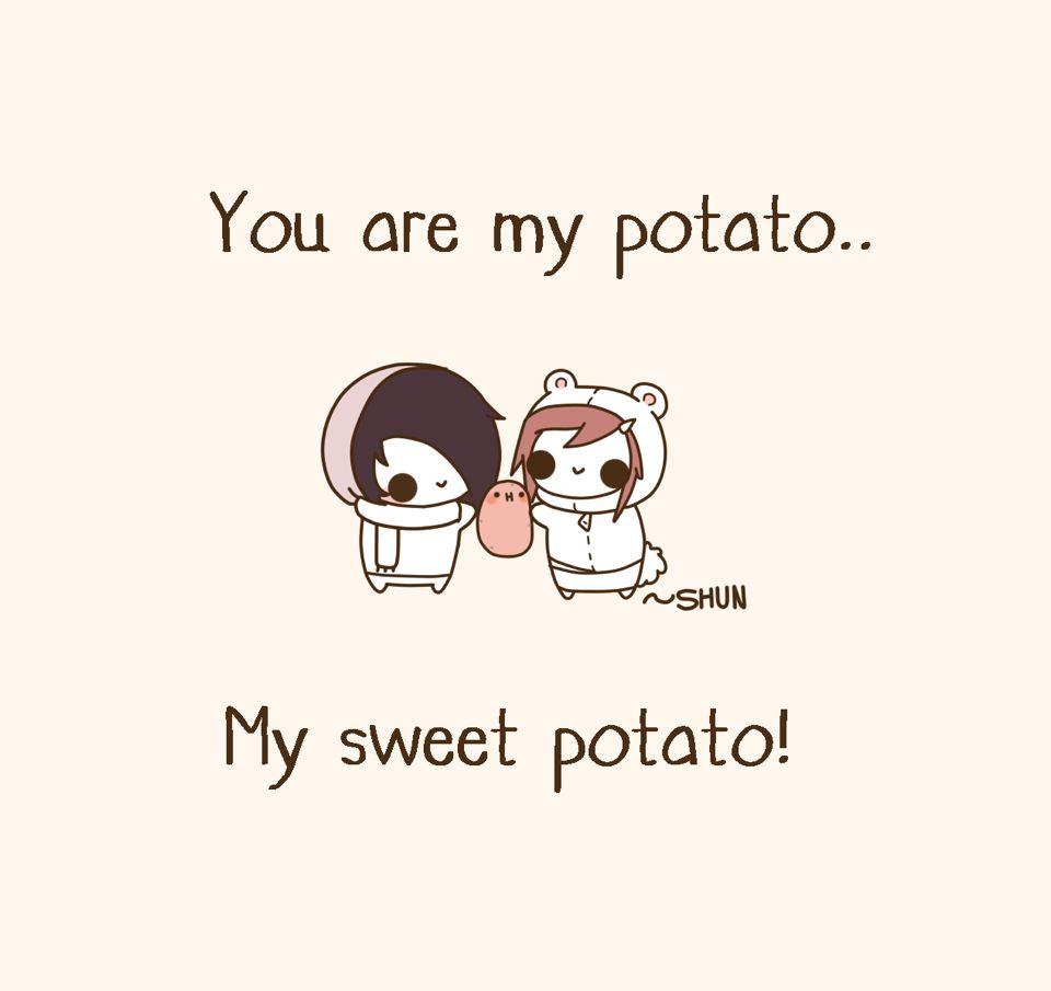 My sweet potato • H • | Kawaii potato | Cute potato ...  My sweet potato...