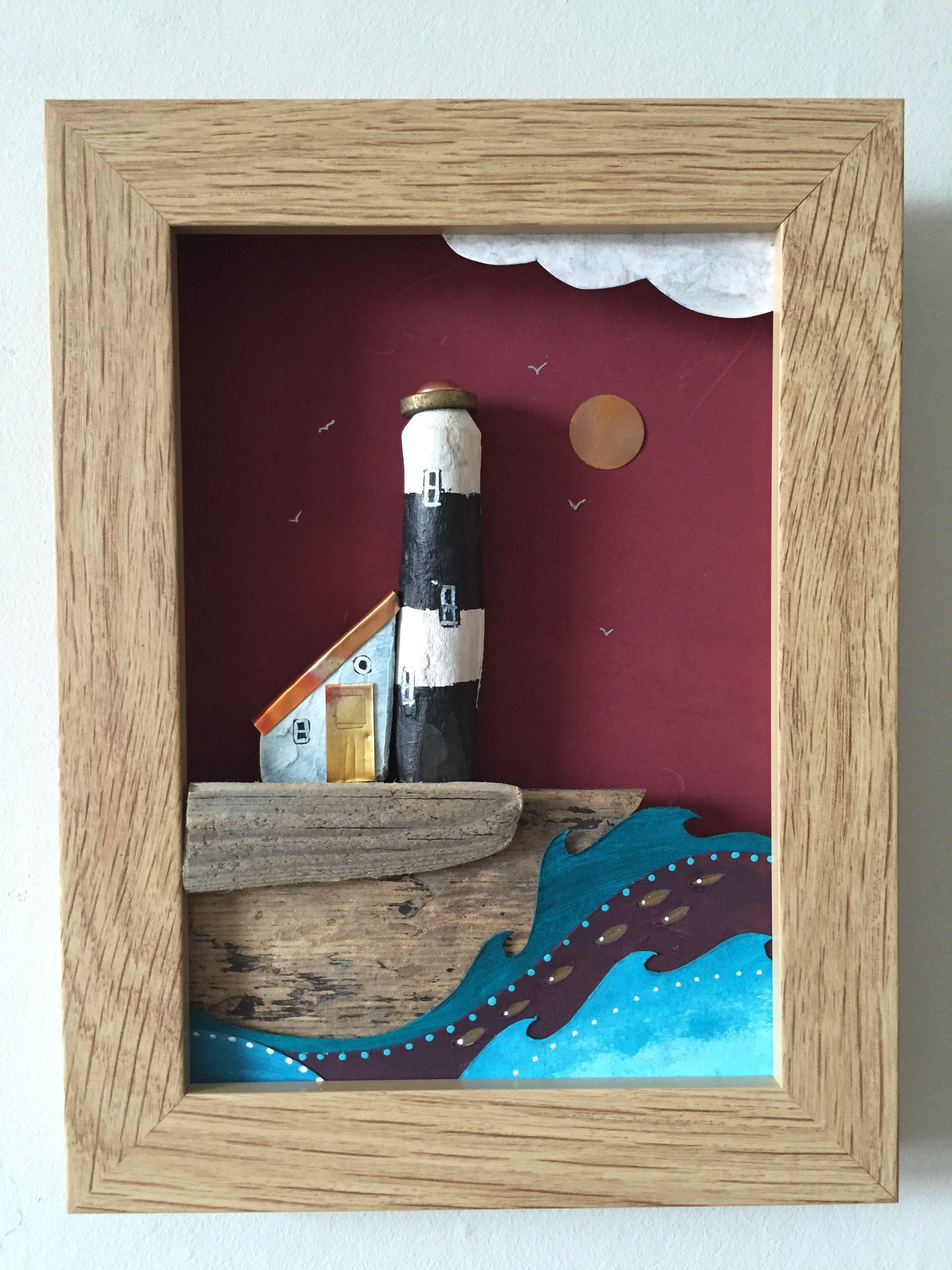 Coastal shadow box www.bridgetwilkinson.co.uk | 2016 | Pinterest ...