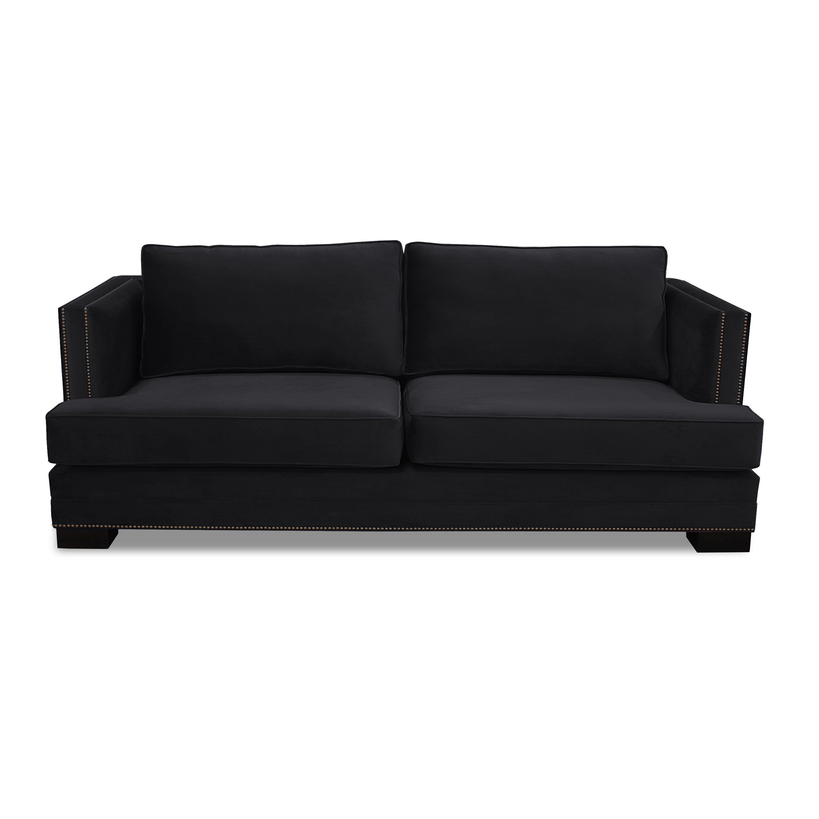 South Cone Lamore Velvet Sofa - From Hayneedlecom
