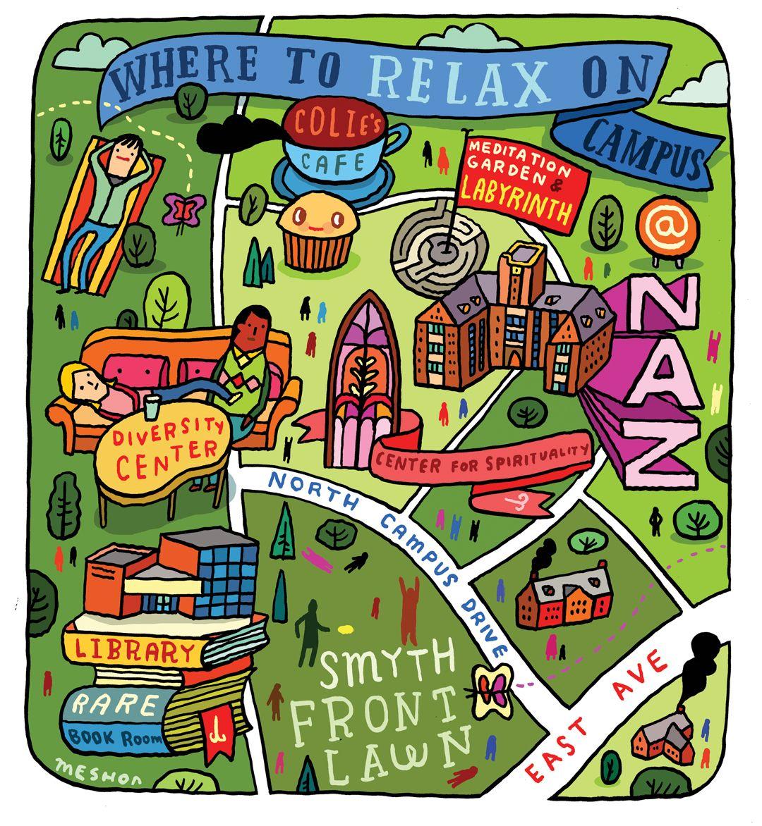 nazareth college campus map Nazareth College Maps Campus Map Nazareth College College Necessities nazareth college campus map
