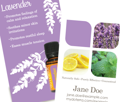 Intro To AromaTouch Theme Doterra Business Card Creative - Doterra business card template