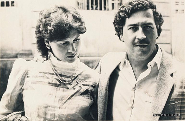 Pablo Escober with wife Maria Victoria Henao