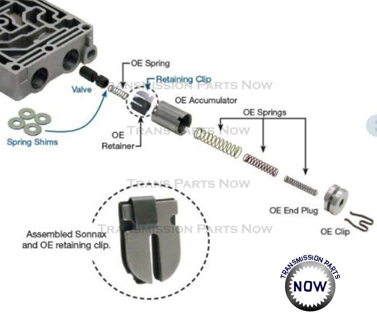 1 2 2 3 Acc Control Valve Sonnax E4od 4r100 1 Valve 36948 13k Transmission Parts Now 47reclutches Control Valves Valve Control