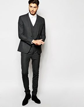 ASOS Super Skinny Suit in Charcoal | Suits for Suitltd | Pinterest ...