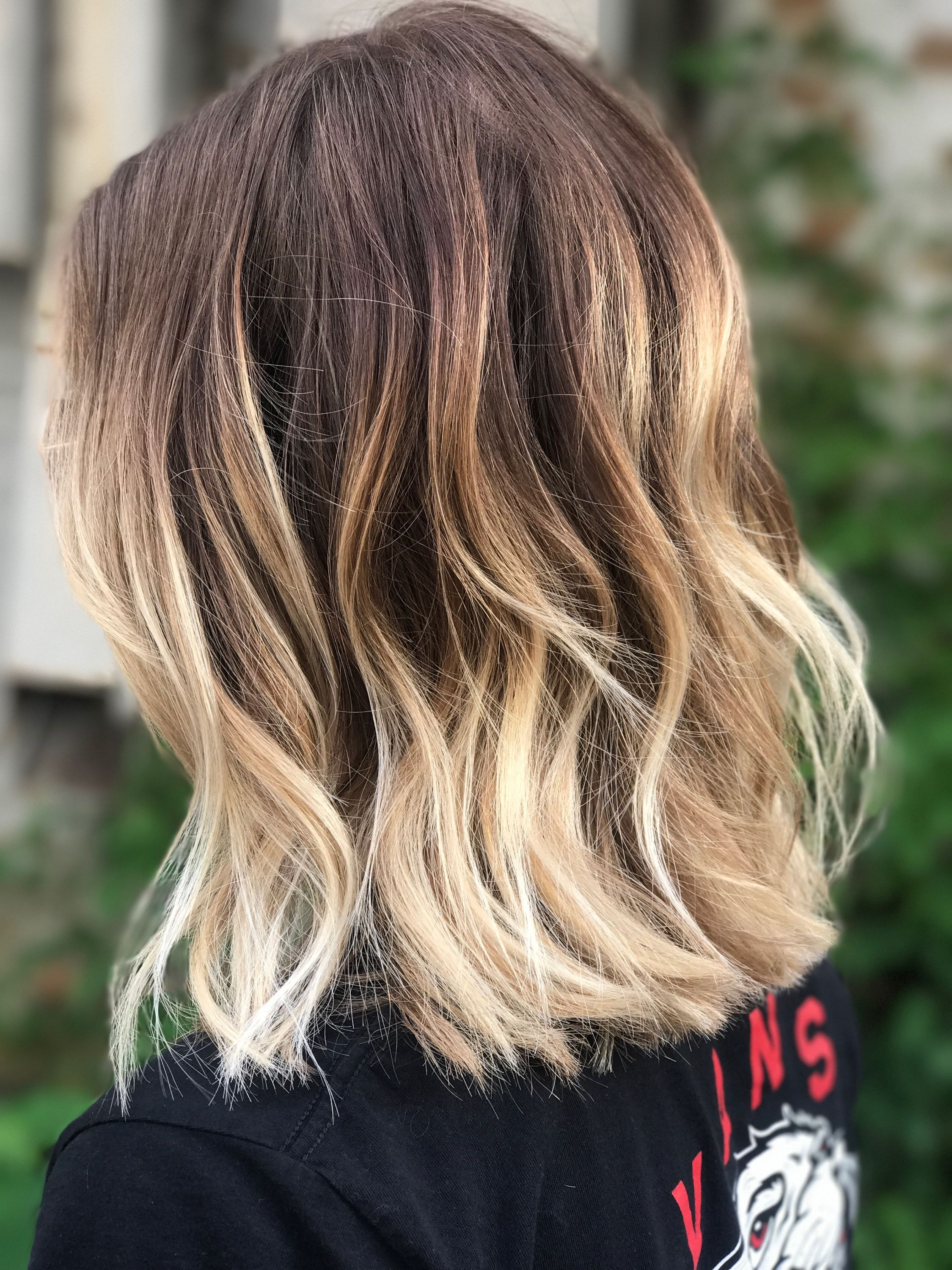 Ombre Bayalage Hair Shorthair Texture Blonde