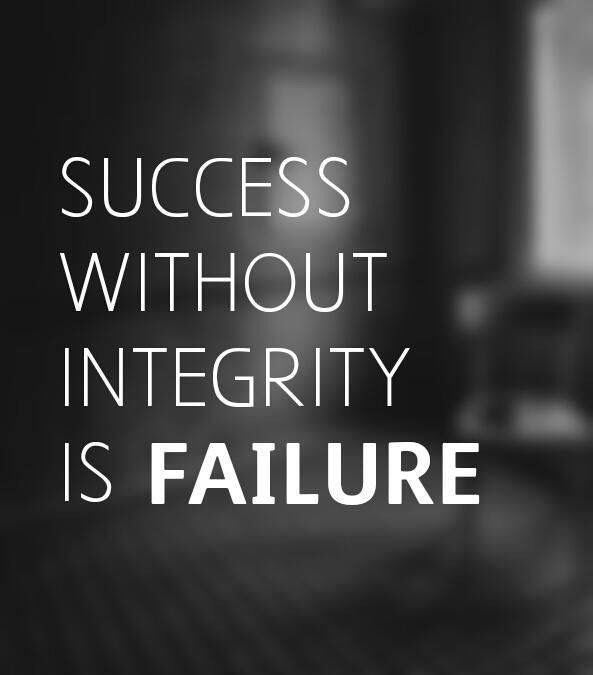 """Integrity Quotes One Truthachieving """"success"""" Without Integrity Is Not Really"""