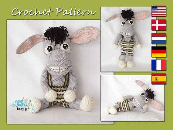Amigurumi Pattern Donkey Crochet Pattern Toy CP-152