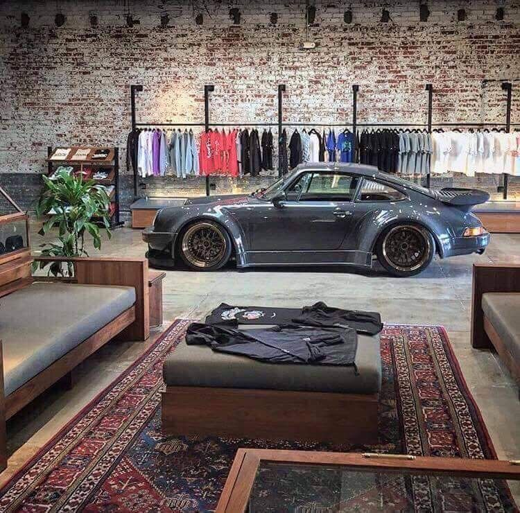 Porsche garage and loft #garagemancaves