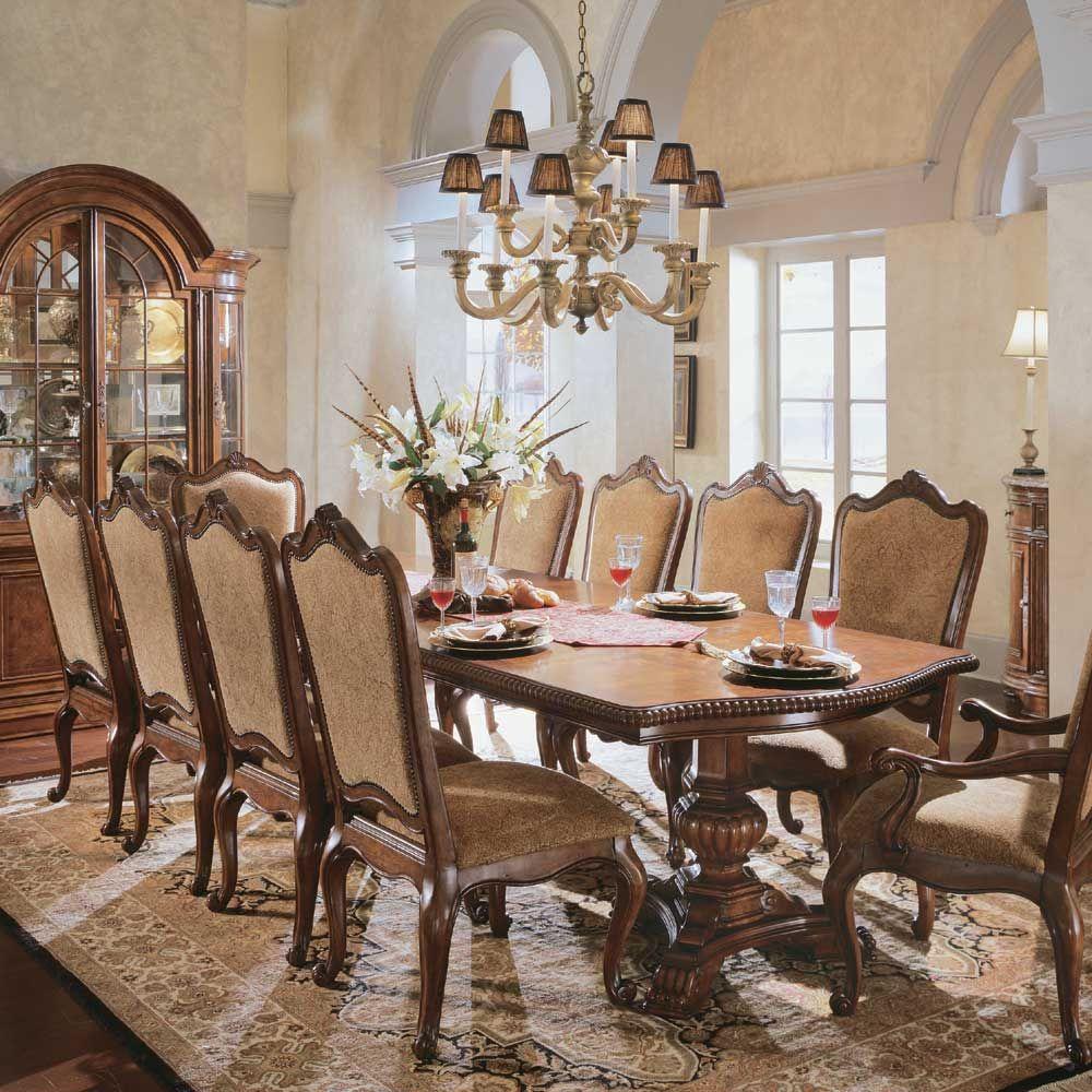 Universal Furniture Villa Cortina Double Pedestal Rectangular