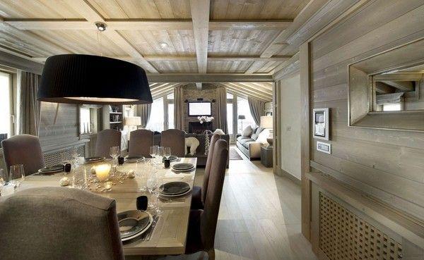 luxuschalet - formelle esszimmer mit schwarze lampe | kitchen, Esszimmer dekoo