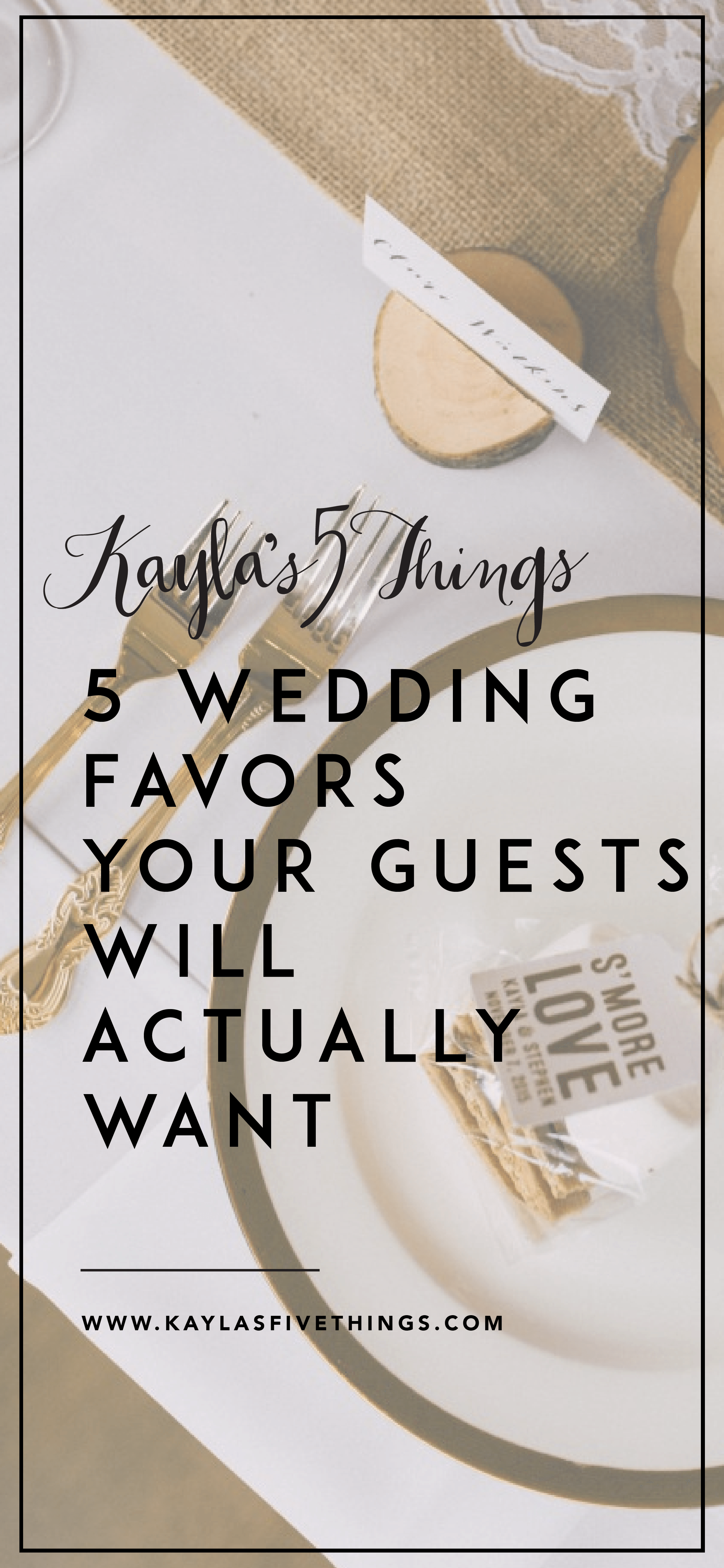 5 wedding favors your guests will actually want   Favors, Weddings ...