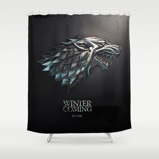 Game Of The Thrones Shower Curtain Stark Curtain Stark By Nikalim Game Of Thrones Winter Winter Is Coming Wallpaper Game Of Thrones Houses