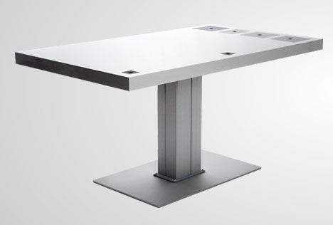 custom white apple computer desk - Google Search