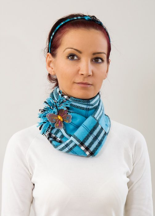 Wear a scarf with a brooch! Not necessarily this pair but ...