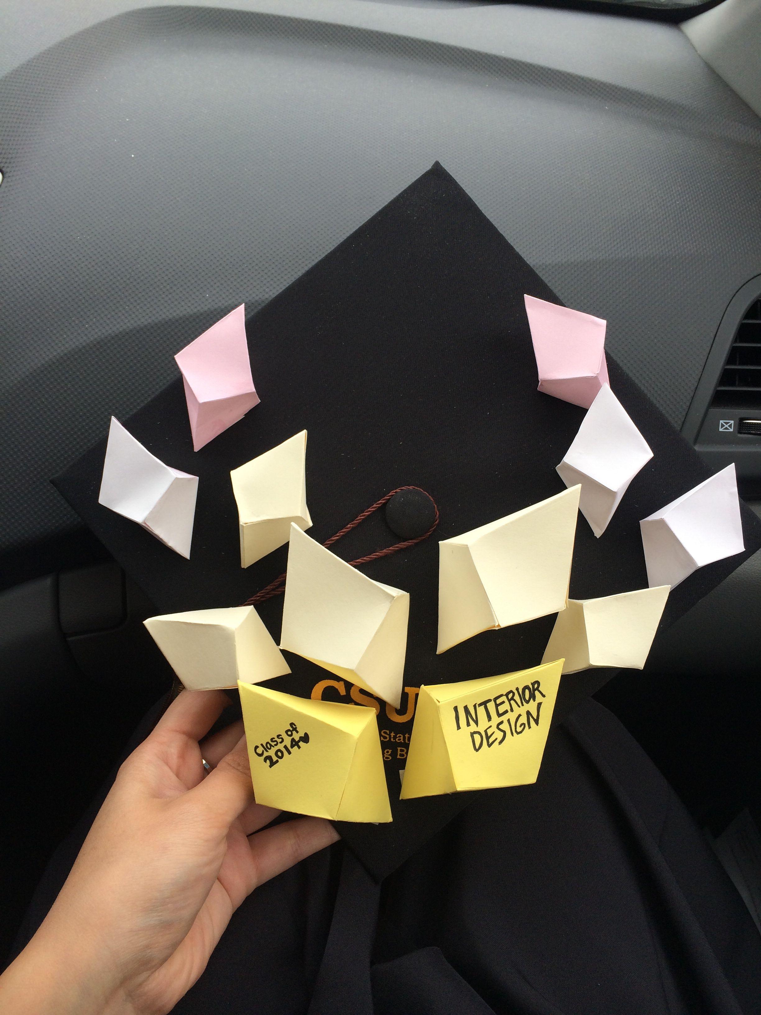 Interior Design Major Graduation Cap Decoration With Geometric