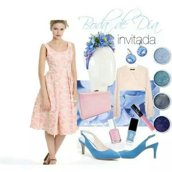 Invitada de Boda. Rosa Cuarzo. Azul serenity. Wedding guest. Quartz Pink. Serenity Blue.