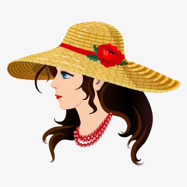 فتاة ترتدي قبعة من القش الناس مثلا شخصيات كرتونية حرف Png والمتجهات للتحميل مجانا Straw Hat Hats Girls Wear