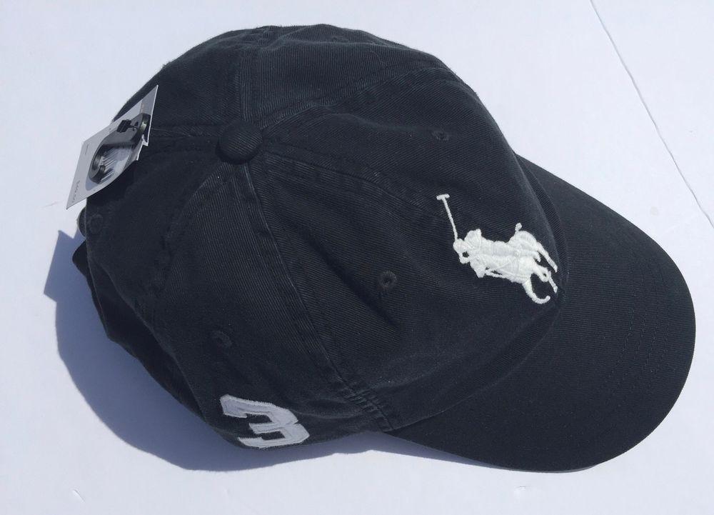 7799510e Polo Ralph Lauren Big Pony Sport Chino Beach Baseball Hat Cap Black White  Men's #PoloRalphLauren #BaseballCap
