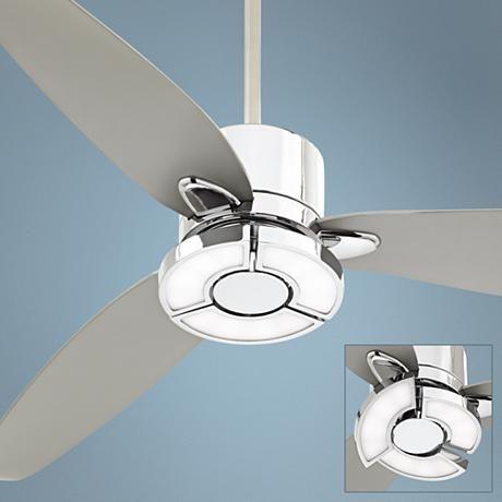 56 Possini Vengeance Chrome Led Ceiling Fan 7d209 Lamps Plus