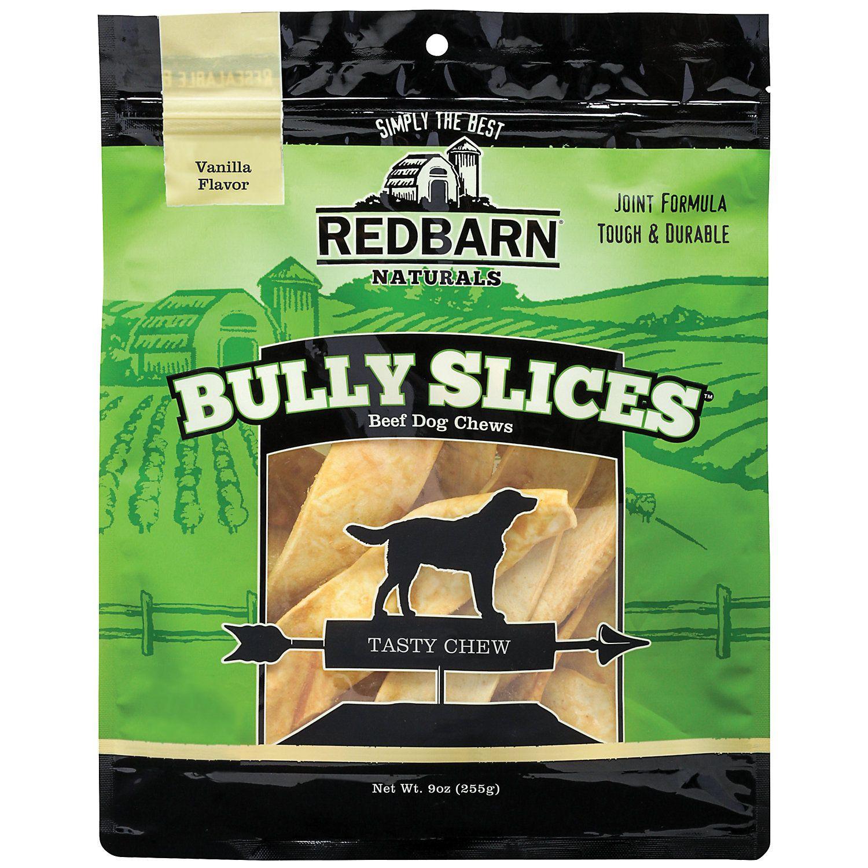 Redbarn Vanilla Bully Slices Dog Chews 9 Oz Dog Chews Dog