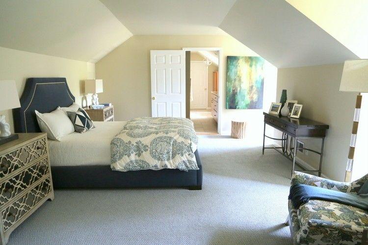 Attic Bedroom Paint Ideas Sloped Ceiling